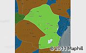 Political Map of Tianjin Shiqu, darken