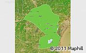 Political Map of Tianjin Shiqu, satellite outside