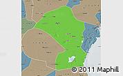 Political Map of Tianjin Shiqu, semi-desaturated