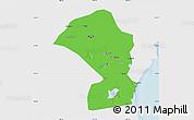 Political Map of Tianjin Shiqu, single color outside