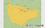 Savanna Style Map of Hami, single color outside