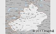 Gray Map of Xinjiang Uygur