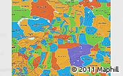 Political Map of Xinjiang Uygur