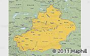 Savanna Style Map of Xinjiang Uygur