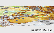 Physical Panoramic Map of Xinjiang Uygur