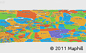 Political Panoramic Map of Xinjiang Uygur