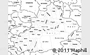 Blank Simple Map of Xinjiang Uygur
