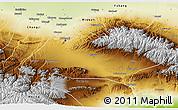 Physical 3D Map of Urumqi