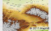 Physical Map of Urumqi