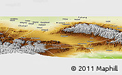 Physical Panoramic Map of Urumqi