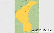 Savanna Style Simple Map of Yecheng