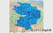 Political Panoramic Map of Baxoi, lighten