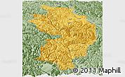 Savanna Style Panoramic Map of Baxoi