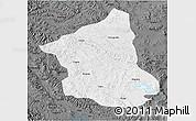 Physical 3D Map of Ge Gyai, darken