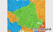 Political 3D Map of Ge Gyai
