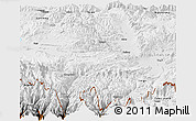 Physical Panoramic Map of Nyalam