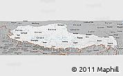 Gray Panoramic Map of Xizang Zizhiqu (Tibet)