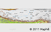Physical Panoramic Map of Xizang Zizhiqu (Tibet)