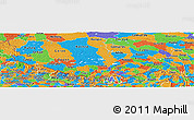 Political Panoramic Map of Xizang Zizhiqu (Tibet)