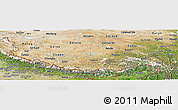 Satellite Panoramic Map of Xizang Zizhiqu (Tibet)