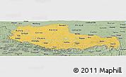 Savanna Style Panoramic Map of Xizang Zizhiqu (Tibet)