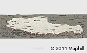 Shaded Relief Panoramic Map of Xizang Zizhiqu (Tibet), darken