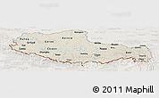 Shaded Relief Panoramic Map of Xizang Zizhiqu (Tibet), lighten