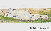 Shaded Relief Panoramic Map of Xizang Zizhiqu (Tibet), satellite outside