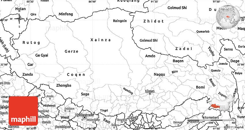 Xizang Map