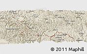 Shaded Relief Panoramic Map of Zayu