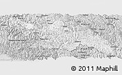 Silver Style Panoramic Map of Zayu