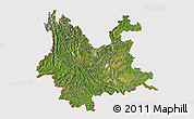 Satellite 3D Map of Yunnan, cropped outside