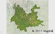Satellite 3D Map of Yunnan, lighten