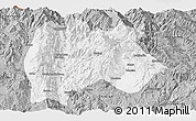 Gray Panoramic Map of Baoshan
