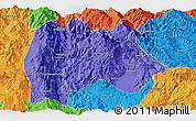 Political Panoramic Map of Baoshan