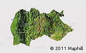 Satellite Panoramic Map of Baoshan, cropped outside