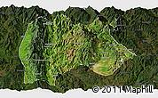 Satellite Panoramic Map of Baoshan, darken