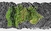 Satellite Panoramic Map of Baoshan, desaturated