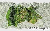 Satellite Panoramic Map of Baoshan, lighten