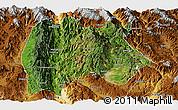 Satellite Panoramic Map of Baoshan, physical outside