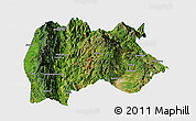 Satellite Panoramic Map of Baoshan, single color outside