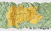 Savanna Style Panoramic Map of Baoshan