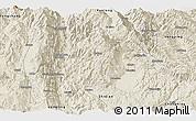 Shaded Relief Panoramic Map of Baoshan