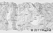 Silver Style Panoramic Map of Baoshan