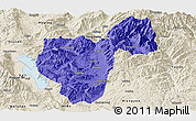 Political Panoramic Map of Binchuan, shaded relief outside