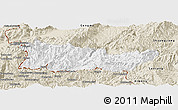 Classic Style Panoramic Map of Cangyuan