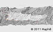 Gray Panoramic Map of Cangyuan