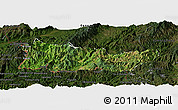 Satellite Panoramic Map of Cangyuan, darken