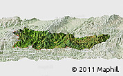 Satellite Panoramic Map of Cangyuan, lighten