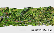 Satellite Panoramic Map of Cangyuan